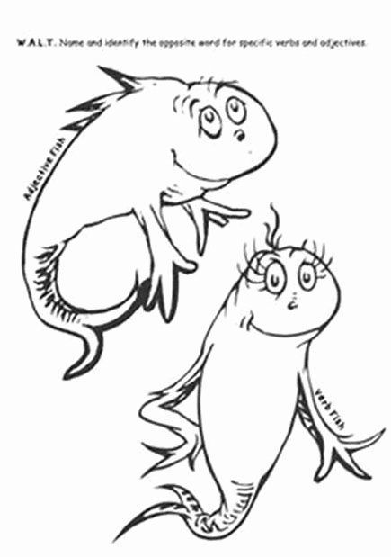 Dr Seuss Fish Coloring Page New Image Result For Dr Seuss Character Template Printables Best Picture For Dr In 2020 Dr Seuss Art Dr Seuss Coloring Pages Seuss Crafts