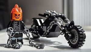 Ghost Rider With Mototbike Brand New Inspired Designed Lego Minifigure