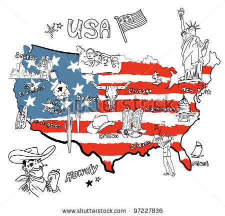 famous american landmarks united states   map of America