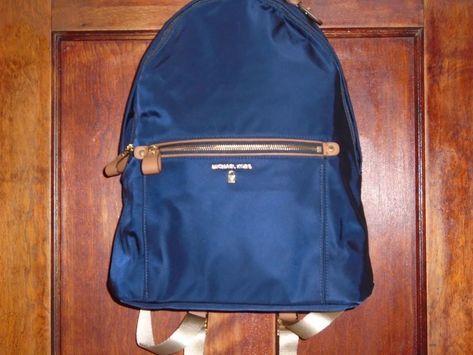 5638bc4894 MICHAEL KORS Kelsey Large Backpack in blue Nylon  MichaelKors  Backpack