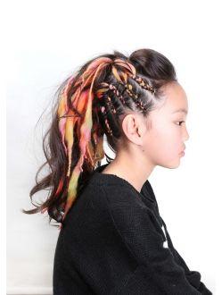 コーンロウ 毛糸 キッズダンサー コーンロウ ダンス 髪型