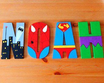 Buchstaben Kinderzimmer Avengers Etsy De Turen In 2019