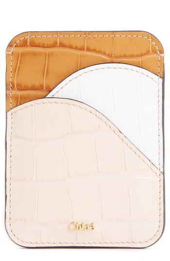 Chic Chloe Walden Crocodile Embossed Leather Card Holder Womens Handbags 240 Proalloffer From Top Store Card Holder Leather Embossed Leather Wallet Fashion
