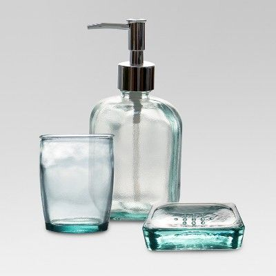 Recycled Glass Soap Dispenser Clear Threshold Glass Soap
