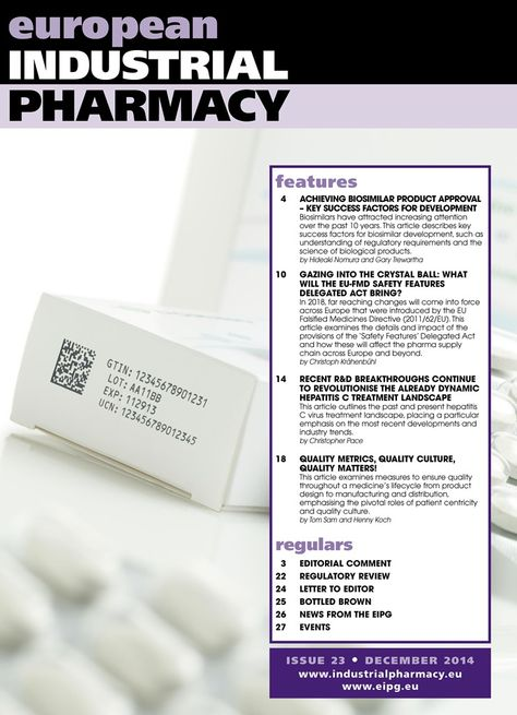 european Industrial Pharmacy Issue 25   issuu/eipg/docs