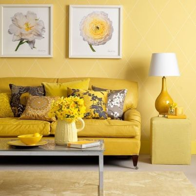 Different Shades Of Yellow Mixed With White And Grey Accessories