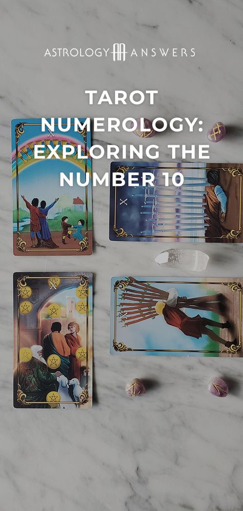 What does pulling a 10 represent in your Tarot reading? #tarot #tarotcards #tarotnumerology #minorarcana 🔮
