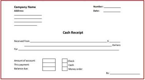 Business Cash Receipt Template Is Created In Format That Can