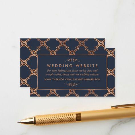 Vintage Geometric Art Deco Gatsby Wedding Website Enclosure