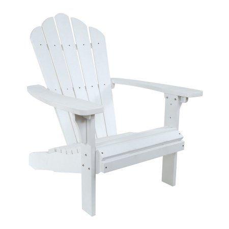 West Palm Plastic Adirondack Chair   White