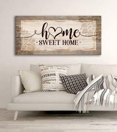 Home Wall Art Home Sweet Home V4 Wood Frame Ready To Hang In 2020 Home Wall Art Home Decor Wall Art Decor