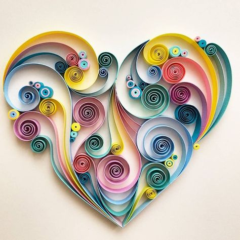 Quilled Paper Art: Colourful Heart | Etsy