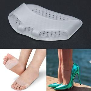 1pair Silicone Heel Pad Soft Forefoot Half Yard Pads Invisible High He Vipbeautycompany In 2020 Slip Resistant Shoes Feet Care High Heel Shoes