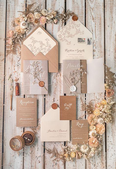 wedding invitations rustic / country / shabby chick 01/rusg/z