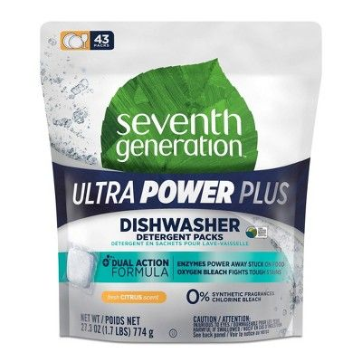 Seventh Generation Ultra Power Plus Auto Dish Packs 43ct In 2020