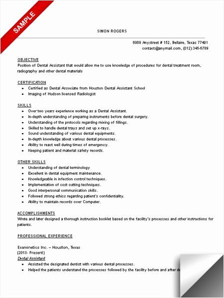 Dental Assistant Resume No Experience Awesome Dental Assistant Resume Sample Limeresumes In 2020 Dentist Resume Medical Assistant Resume Dental Assistant
