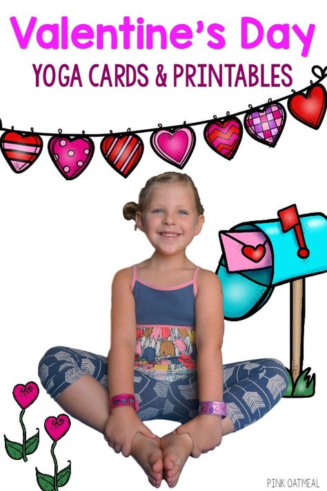valentine's day yoga cards and printables  physical