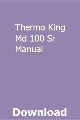 Thermo King Md 100 Sr Manual Repair Manuals Owners Manuals Toyota Mr2