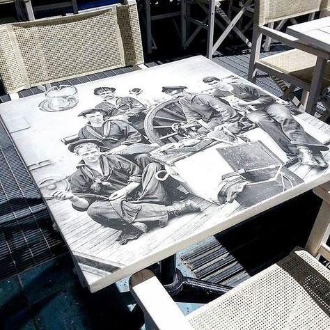 At Arredi Trasparenti.Stampa Diretta Su Piane Di Tavolini E Verniciatura