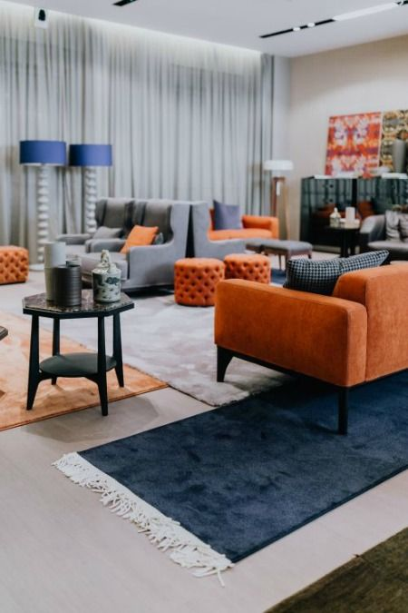 Interior Balancing Your Color Scheme With The 60 30 10 Rule Living Space Decor Living Room Orange Luxury Modern Furniture
