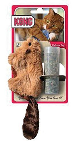 Kong Beaver Refillable Catnip Toy Colors Vary Refillable Soft Plush Catnip Toy Contains Top Quality Natural North America Catnip Toys Catnip Cat Toy Pet Toys
