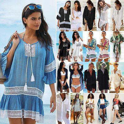 Ladies Beach dress Cover up Kaftan Sarong Summer wear Swimwear Bikini Summer UK