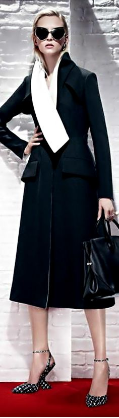 Image result for back of dior dress coat black