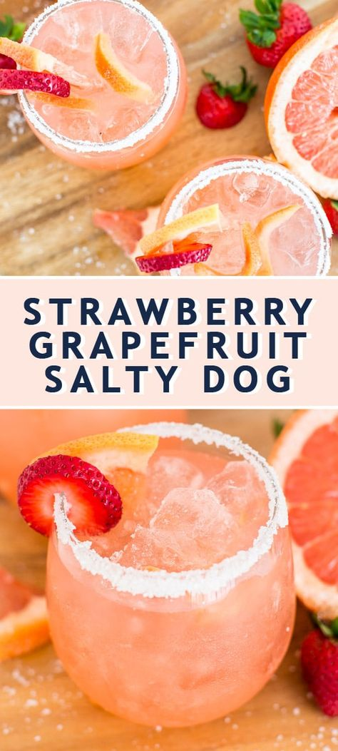 Salty Dog Recipe, Salty Dog Cocktail Recipe, Sour Cocktail, Cocktail Drinks, Fun Drinks, Cocktail Recipes With Rum, Mixed Drinks, Vodka Recipes, Alcohol Drink Recipes