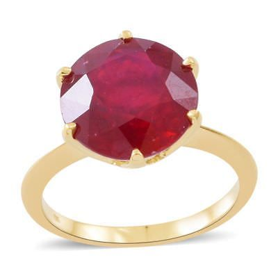 TJC Natural African Ruby 925 Sterling Silver Engagement Solitaire Ring