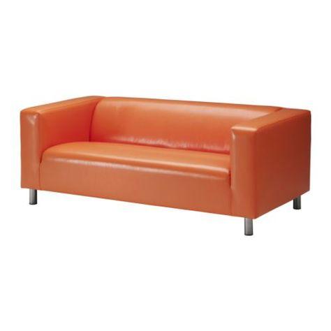 Leren Klippan Bank.Us Furniture And Home Furnishings Ikea Loveseat Orange