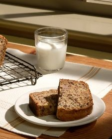 The batter for this easy-to-bake banana bread is enriched with the addition of sour cream.