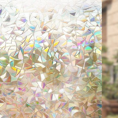 Beautiful Faux Stained Glass Window Cling Film No Glue Static