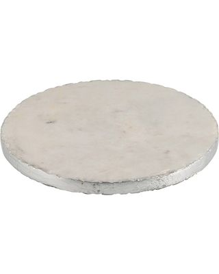 Thirstystone Marble Trivet Silver Edge From Houzz Allrecipesshop Marble Serving Boards Durable Rugs Marble Coasters
