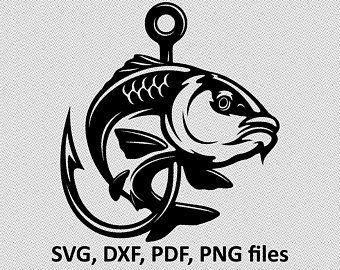 Download Fishing Svg Bass Svg Fishing Clipart Bass Clipart Fish Etsy Lautan