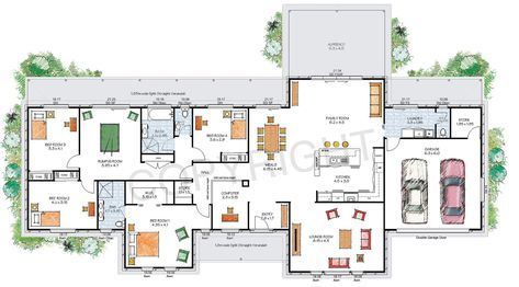 The Stanthorpe Floor Plan Download A Pdf Here Paal Kit Homes Offer Easy To Build Steel Fra House Plans Australia Modern House Floor Plans House Floor Plans