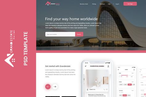 Grandestate Real Estate Landing page