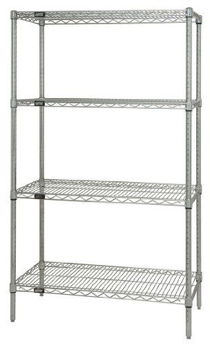 Quantum Storage Systems Wr54 1860c Starter Kit For 54 Hi Https Www Amazon Com Dp B000vz8a4m Wire Shelving Units Wire Shelving Freestanding Shelving Units