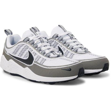 Nike Air Zoom Spiridon Rubber Panelled Mesh Sneakers (495