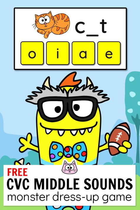 Practice addition to 10 using this engaging FREE Monster Dress-Up interact. Practice addition to 10 using this engaging FREE Monster Dress-Up interactive game! This fun - Kindergarten Math Games, Literacy Games, Classroom Games, Vocabulary Games, Google Classroom, Kindergarten Websites, Learning Games, Classroom Ideas, Computer Games For Kids