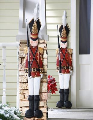 Metal Holiday Tin Soldier Wall Decoration - I want to get 2 of these to put on either side of my front door!