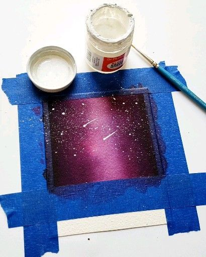 Etoiles De Galaxie Dessin Galaxie Peinture De Galaxie Et