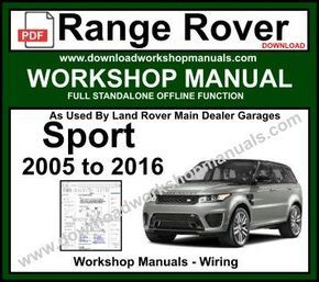 2005 range rover engine diagram range rover sport workshop manual download range rover  range  range rover sport workshop manual