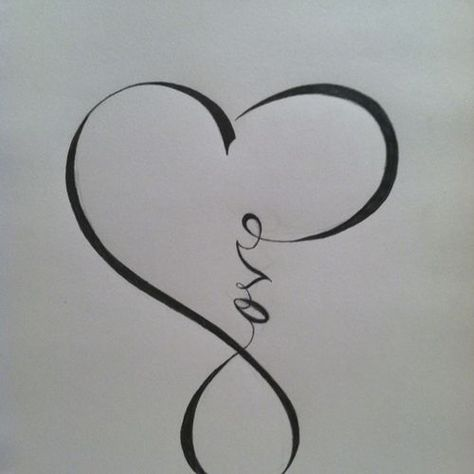 love infinity - Would be a great tattoo.