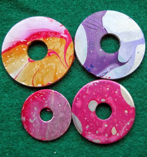 Made Out Of Things: Bits and Bobs - marbling jewellery