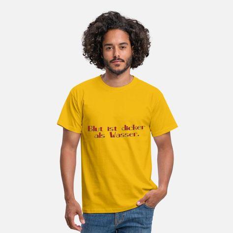 Blut Ist Dicker Als Wasser Männer Premium T Shirt Grau