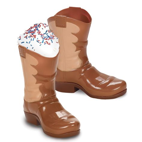 Plastic Western Cowgirl Boot Cup for a Sheriff Callie's Wild West Party