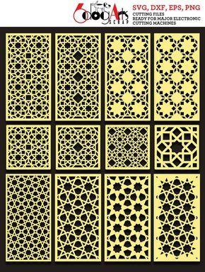 Arabesque Pattern Grill Panel Templates Digital Stencils Cut