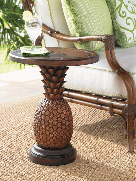 Tommy Bahama - Alfresco Living collection. Cast aluminum pineapple end table with a Sienna finish.