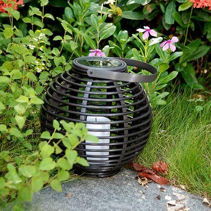 Solar Lantaarn Basket Small Rotanlook Lamp Op Zonne Energie Tuinverlichting Ideeen Lantaarn Zonne Energie