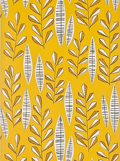 Garden City Sunburst wallpaper to buy online. A yellow wallpaper by MissPrint at best online price.